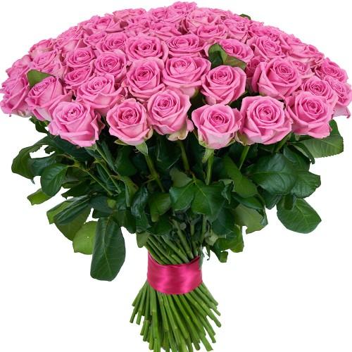 Купить на заказ Букет из 101 розовой розы с доставкой в Шардаре