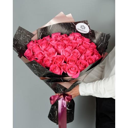 Купить на заказ Букет из 51 розовых роз с доставкой в Шардаре