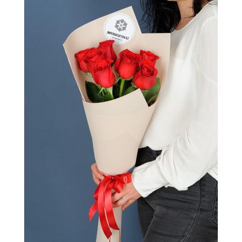 Купить на заказ Букет из 7 роз с доставкой в Шардаре