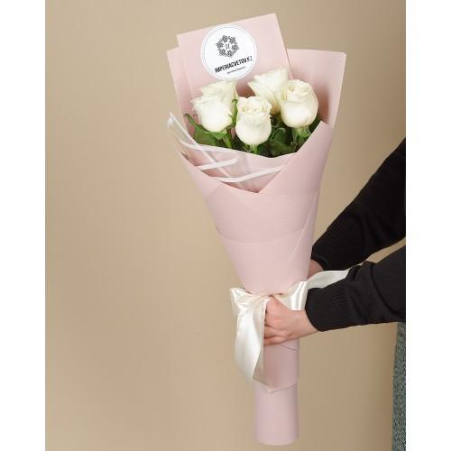 Купить на заказ Букет из 5 роз с доставкой в Шардаре